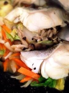鱈の味噌蒸し煮