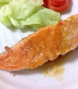 鮭にんにくバターしょうゆ